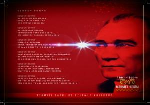 Mehmet Kesim Atatürk e hitap eden  Senden Sonra  �iiriyle büyük takdir topladı